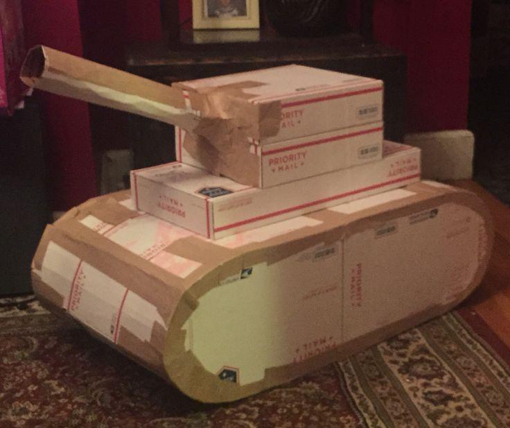 Cardboard army tank