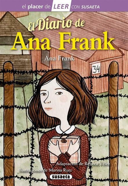 A PARTIR DE 12 AÑOS. Cuando Ana Frank cumplió trece años, sus padres le regalaron un cuaderno que ella usó como diairo. En él relató sus vivencias y sentimientos durante los casi dos años y medios que vivió escondida de los nazis junto a su familia.Haz clic en la imagen para ir al catálogo.