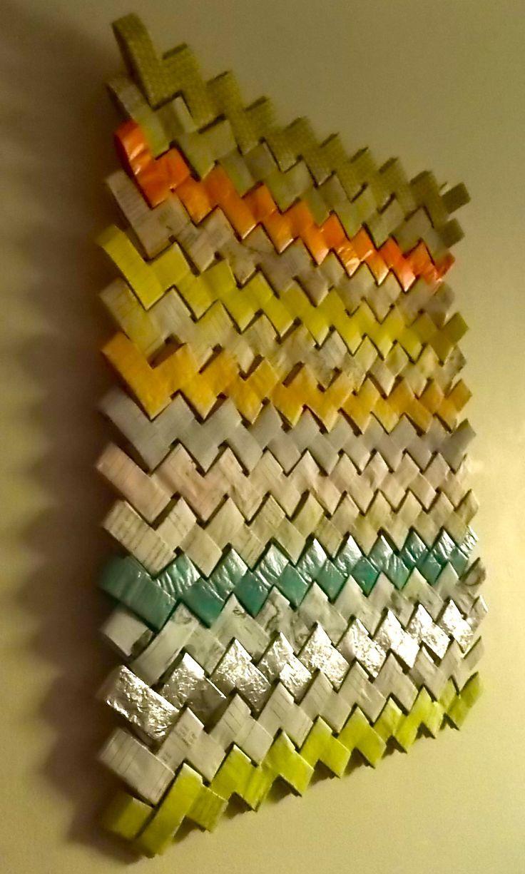 basteln papier als wanddekoration und kreative wandgestaltung