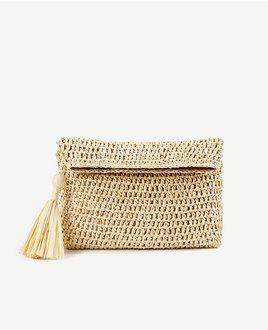 Straw clutch from Ann Tayloe