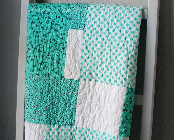 Nautical Baby Quilt, Nautical Quilt, Toddler Quilt, Baby Quilt, Blue Baby Quilt, Green Baby Quilt, Nautical Blanket by FluffyPuppyQuilts on Etsy https://www.etsy.com/listing/268533050/nautical-baby-quilt-nautical-quilt