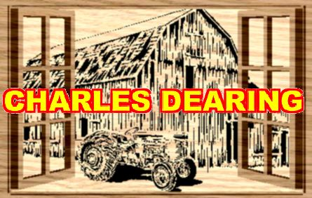 An old rustic barn and tractor seen through open windows (Layered) from Scroll Saw Pattern designer Charles Dearing.