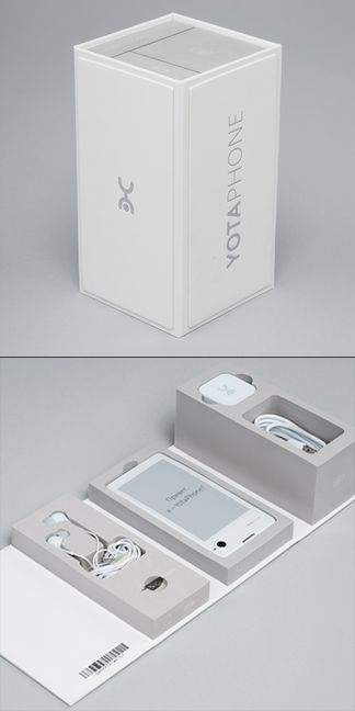 YotaPhone 1st generation packaging// SILA agency + Olga Abramova (Yota Devices)