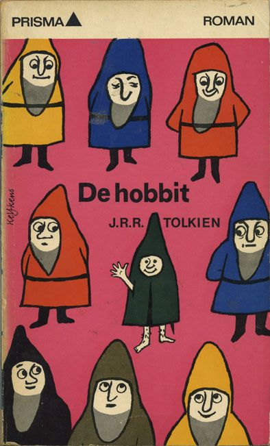 The hobbit, Dutch paperback from 1970, cover by Cees Kelfkens