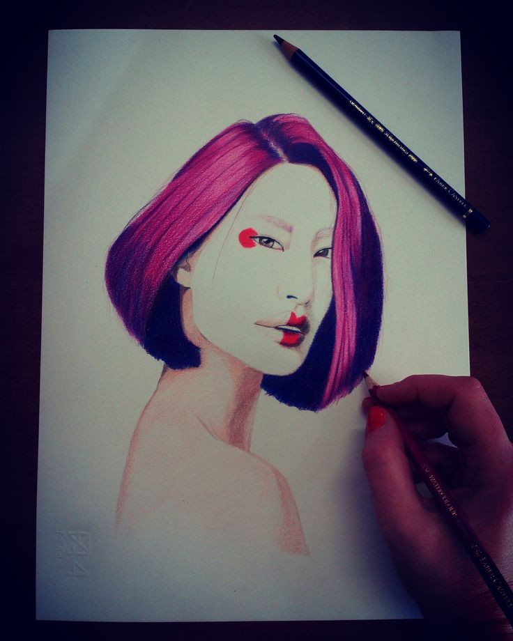 Geisha Pencil on paper