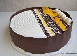 Tort aniversar cu mousse de ciocolata si jeleu de portocale