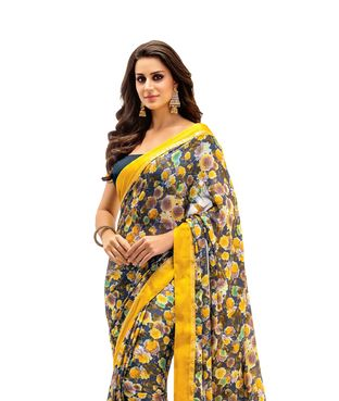 Vishal multi color crape Printed Saree | I found an amazing deal at fashionandyou.com and I bet you'll love it too. Check it out!