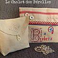 ...Très gâtée ! Et je n'avais rien montré ! Par Muriel , jolie pochette en lin et frivolités... Par Solange, belle poche pour broder... ...