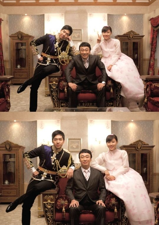 'The King 2 Hearts' cast Lee Seung Gi, Ha Ji Won, and Lee Sung Min pose for royal family photos #allkpop