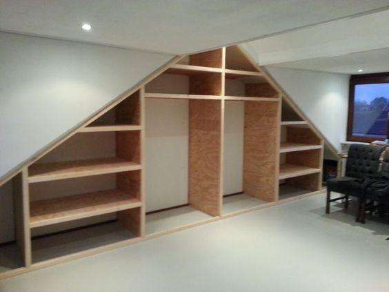 Unique Hast du auch einen Dachboden mit Dachschr ge Mit einem Schrank nach Ma kann man mehr