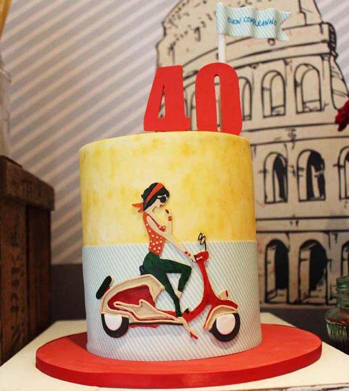 Italian Vespa Guest Dessert Feature: Vespa Cake. SWEEEETTTT!!