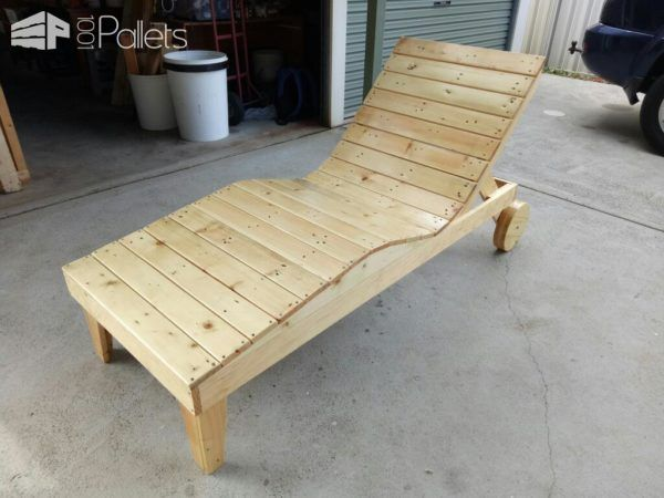 1000 ideas about pallet chaise lounges on pinterest - Chaise longue en palette bois ...