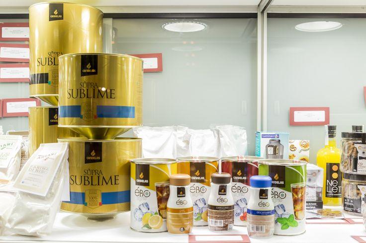 Los nuevos productos de Cafés Candelas: el blend de café Supra Sublime y la línea de preparados fríos Ébo, en el espacio de nuevos productos del Salón de Gourmets.