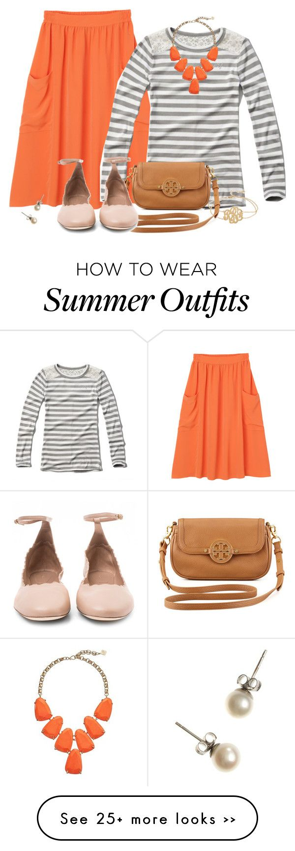 """Bright Bottom Contest!"" by jamietk on Polyvore featuring Monki, Abercrombie & Fitch, Kendra Scott, Kate Spade, Tory Burch, J.Crew, Chloé and transitionstyle"