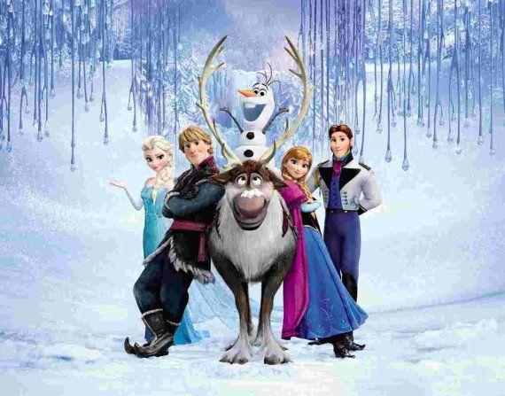 Disney Frozen Group Sven Elsa Anna Hans Olaf Kristoff Gift Wrap Paper 20 Inches X 6 Feet