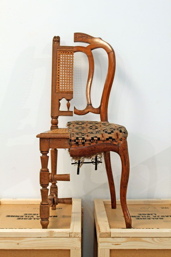 Art syncrétique, chaise découpée, 1964, en remake 2011