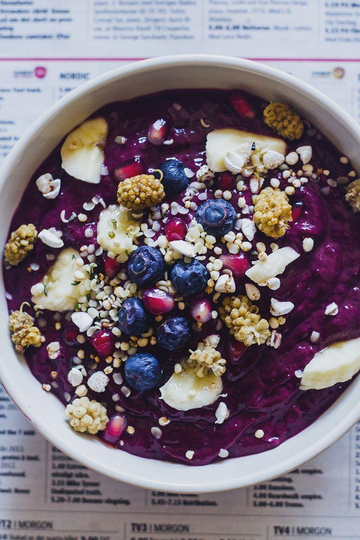 Smoothie bowl fruits x myrtilles