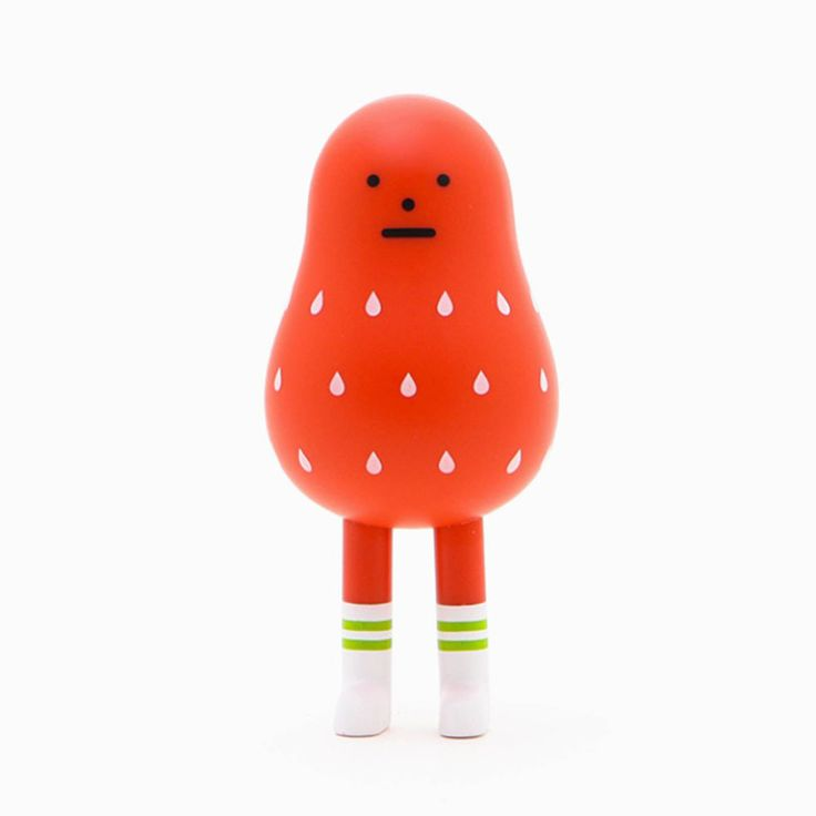 Korea Art Toy Brand Sticky Monster Lab Smoothie Heroes Series Red Berry Mon #StickyMonsterLab