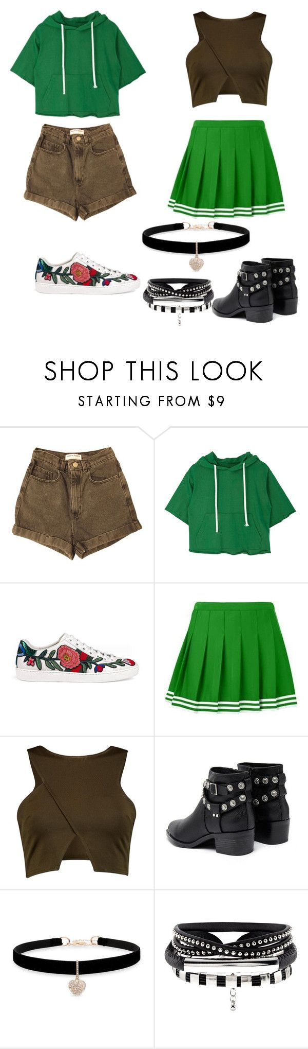 """Merida"" by malucarreiromc ❤ liked on Polyvore featuring American Apparel, Gucci, Senso and Betsey Johnson"