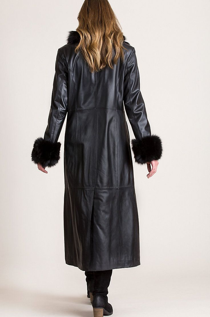 The Commanding Presentation Of Our Leather And Fur Coat Dresses You For Special Occasions And Ev Leather Coat Long Leather Coat Women Dresses Special Occasions [ 1109 x 736 Pixel ]