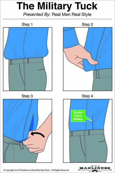 Stoppa in skjortan med för mycket tyg
