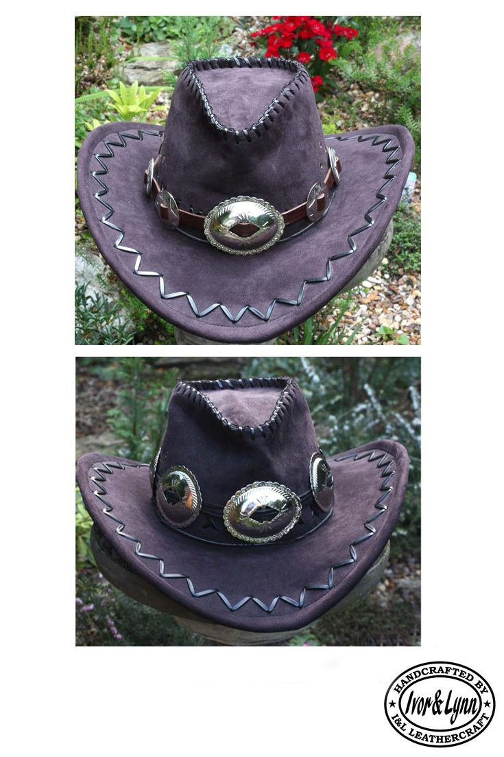 61429fd675436 Handmade leather concho hat bands