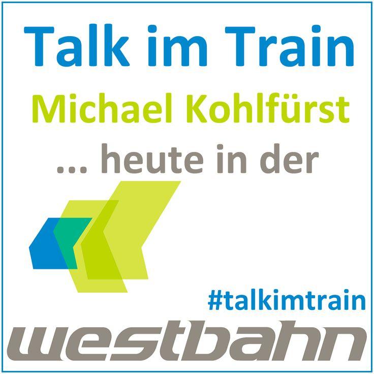 Heute gibt es wieder Talk im Train! Online Marketing Begeisterte treffen mich im Zug von Salzburg nach Wien 17:52 - 20:20 im Wagon 100 im Oberdeck der WESTbahn Gmbh. Ich freue mich auf spannende Gespräche über Google, Mobile, Facebook, Rebelmouse. #talkimtrain #promomasters #wirsindseo