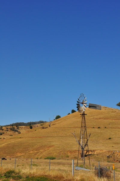 windmill near Colac Colac Caravan Park at Corryong in Victoria.
