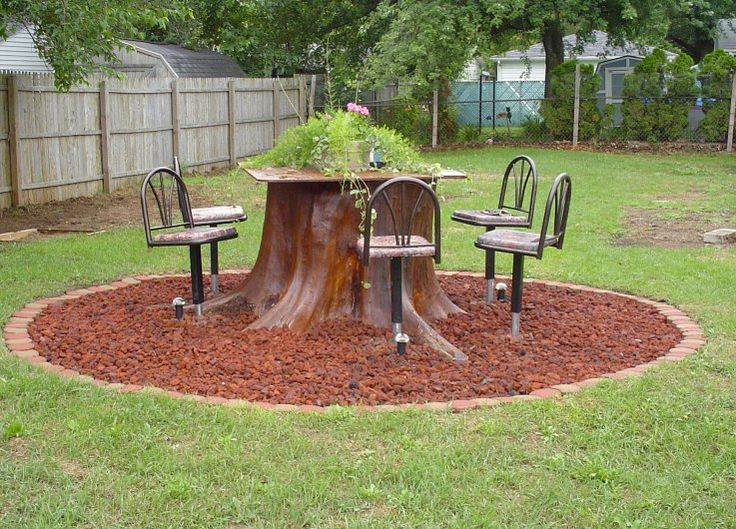 76 best images about tree stump ideas on pinterest for Tall tree stump ideas