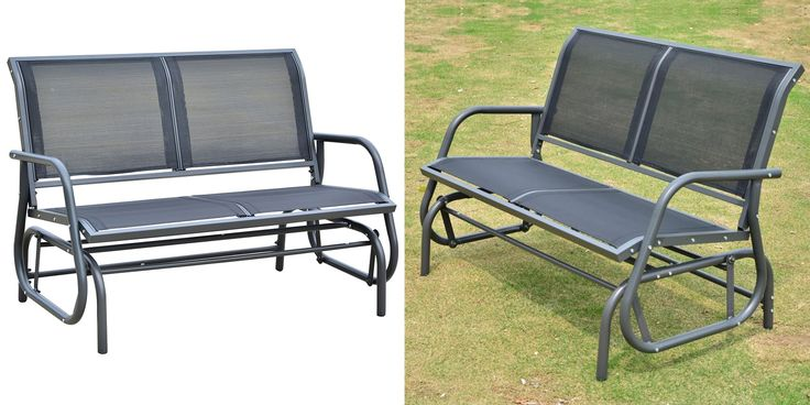 Outdoor Patio Glider Bench Swing - 25 Best Patio Chairs To Buy Right Now | https://homebnc.com/best-patio-chairs-to-buy/ #patio #chair #chairs #bench #home #decor #ideas #homedecor #lifestyle #beautiful #creative #modern #design #decorating #decoration #idea #homebnc