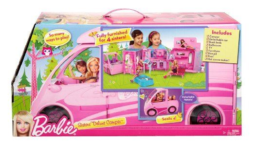 Amazon.com : Barbie and Her Sisters in a Pony Tale RV Vehicle : Doll Playsets : Toys & Games