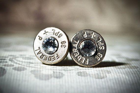 Gunpowder and Glitz Nickel Plated Bullet by GunpowderAndGlitz, $20.00