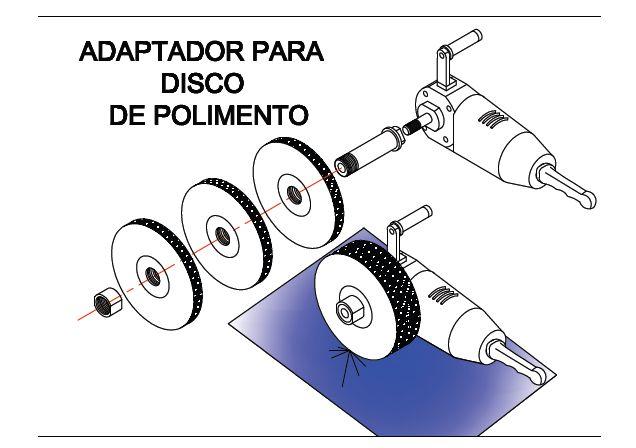 ADAPTADOR PARA DISCO DE POLIMENTO  #adaptador #polimento #esmeril #discos