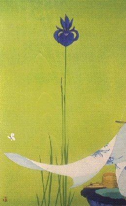 Japanese woodblock print artist Tsuzen Nakajima LHJ - so pure - color is wonderful