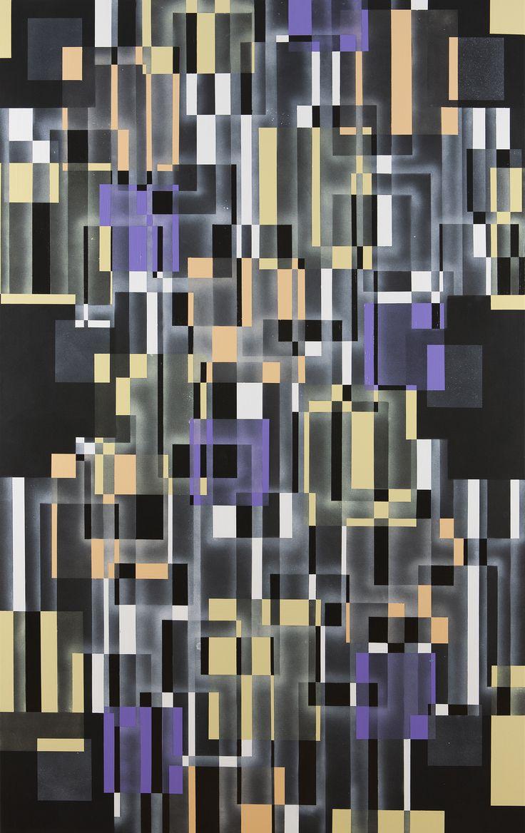 "Marianne Grønnow ""Light, Dusk, Darkness"" 225x145 cm Akryl på lærred"