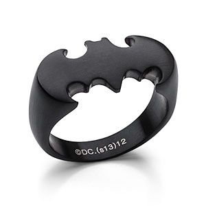 Batman Ring in Matte Black.  I'd wear this all day every day