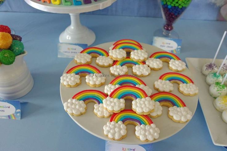 Rainbow cookies at a My Little Pony Rainbow Dash birthday party! See more party ideas at CatchMyParty.com!