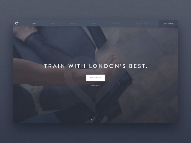 Fitness Site Dark UI by Charles Patterson