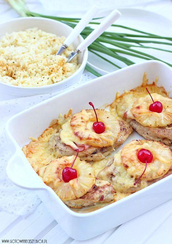 Filety po hawajsku z ryżem w sosie ananasowo śmietanowym z ...