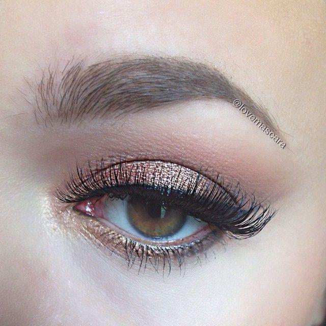 Using @anastasiabeverlyhills shadows in Bengal, Smoke, and China Rose with @maccosmetics Tan pigment. @makeupgeekcosmetics Immortal gel liner @lashesbylena Tina lashes