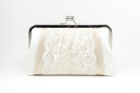 Bolsa clutch con encaje de DavieandChiyo: más linda, imposible.
