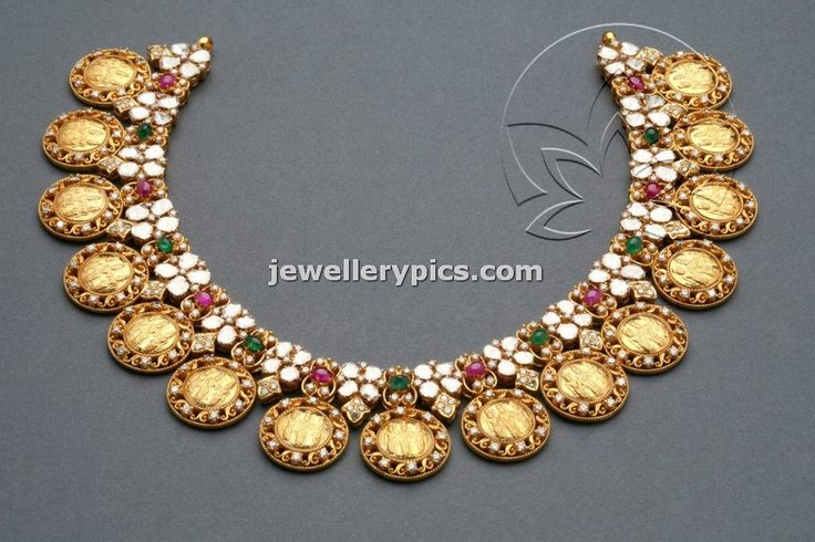 Rama Sita Lakshmana Kasumala necklace design by Tibarumal jewellers - Latest Jewellery Designs