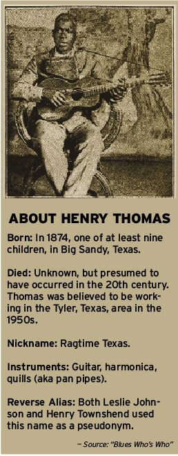 You may not know Henry Thomas, but his music should ring a bell on http://www.goldminemag.com