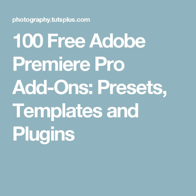 Best 25 adobe premiere pro ideas on pinterest new photo editing software premier definition for Adobe premiere pro templates free