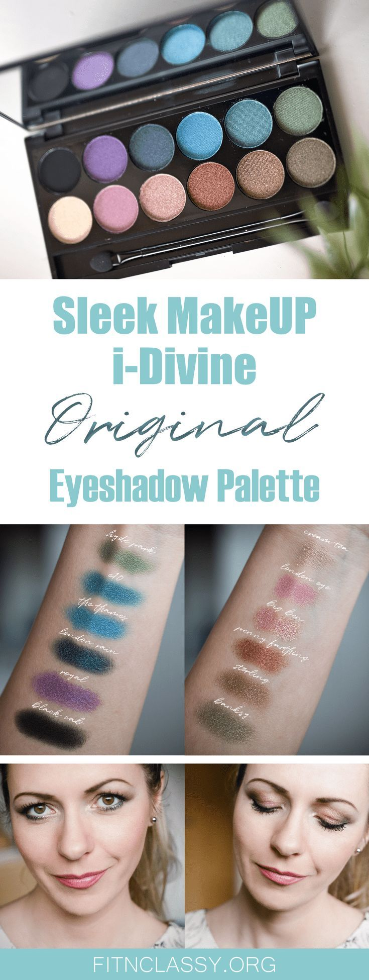Sleek MakeUP iDivine Original Makeup Palette for a day and night look. Full of shimmery colours. Mineral-based and long-lasting. #makeup #eyeshadow #palette #beauty