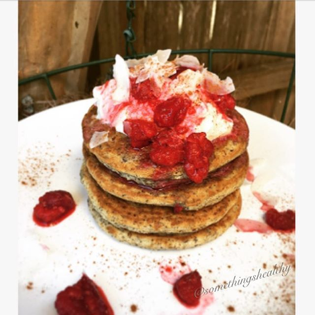 Rasberry Linseed Pancakes 😍so light and fluffy! Recipe adapted… via @feedfeed on https://thefeedfeed.com/somethingshealthy/3883029