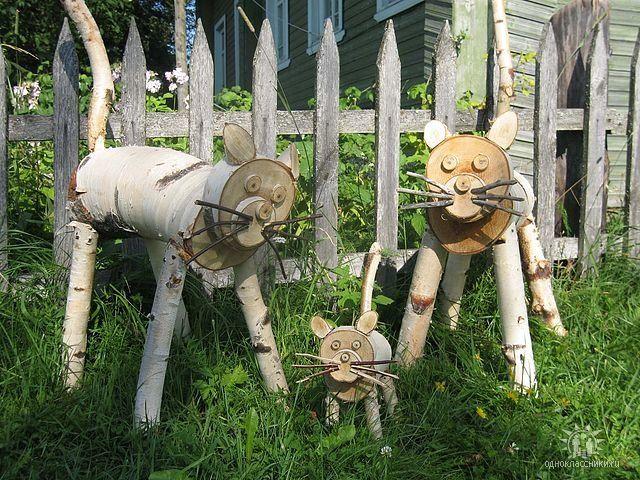 фото деревянных человечков на участок следует считать