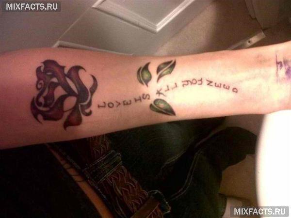 текст-тату на руке в виде розы