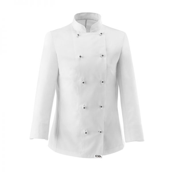 White Woman Chaqueta de mujer. 100% algodón. Color blanco. Slim Fit. 10 botones. Botón especial. www.chefaporter.com