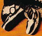 Zebra Slippers  - free zebra crochet pattern